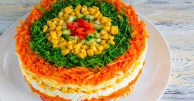Новогодний салат «Яркая фантазия»