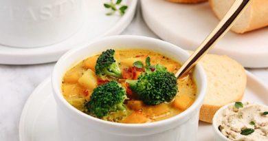 Суп с брокколи и тыквой