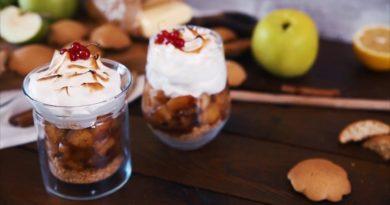 """""""Яблочный пирог"""" в стакане"""