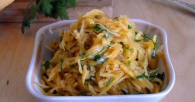 Корейский салат из тыквы