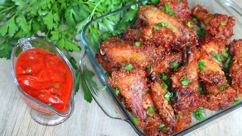 Улетные крылышки с томатно-ореховым соусом! Любовь с первого укуса!