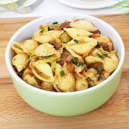 Макароны с мясом и капустой - неимоверная вкуснятина на ужин!