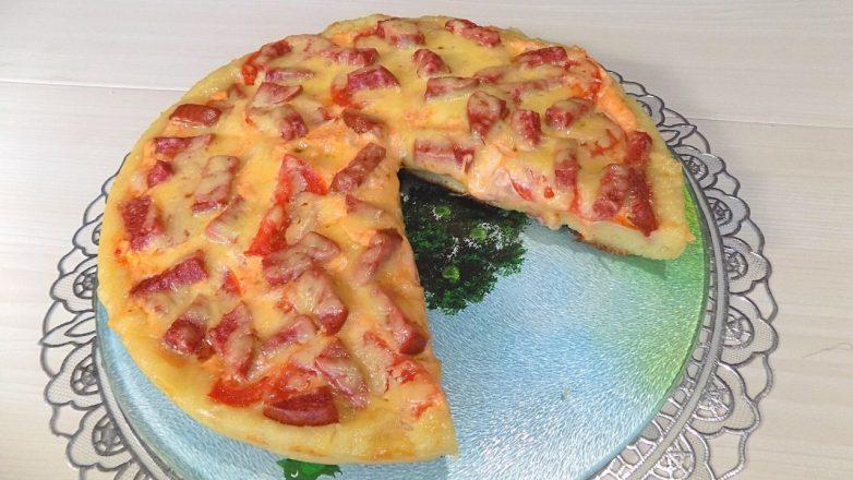 Пицца, приготовленная на сковороде (2 пиццы)