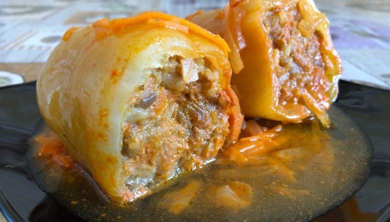 Фаршированный перец в очень вкусном соусе