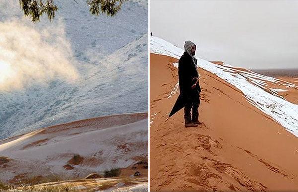 Африканский Север: в Сахаре второй год подряд выпадает снег