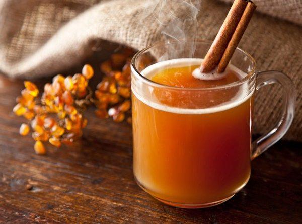Облепиховый чай с имбирем и корицей