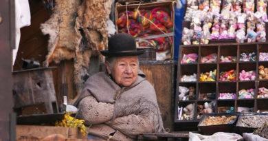Рынок ведьм в столице Боливии