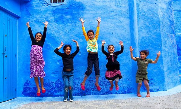 Шефшауэн - сказочный синий город в Марокко