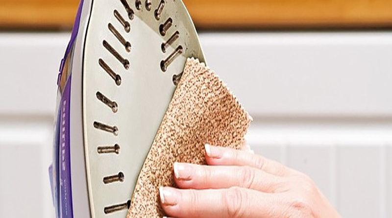 Способы очистки подошвы утюга