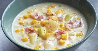 Вкусный суп с копченостями и кукурузой