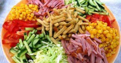 """Салат с кукурузой """"Ералаш"""""""