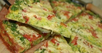 Низкокалорийная пицца из кабачков