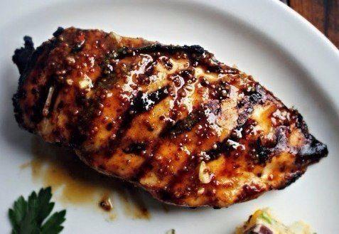 Курица-гриль в медово-горчичном соусе
