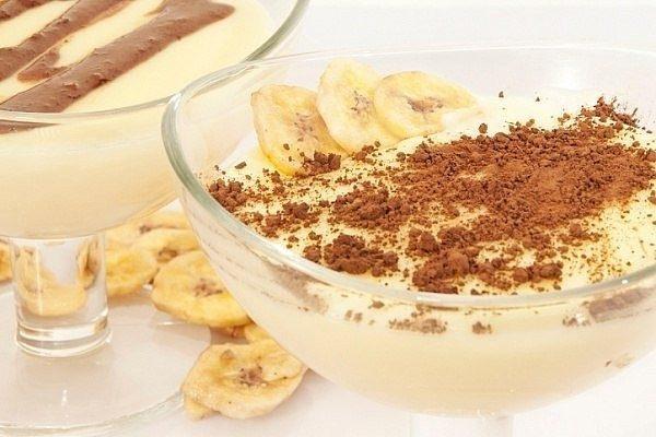 Простой рецепт бананового мусса