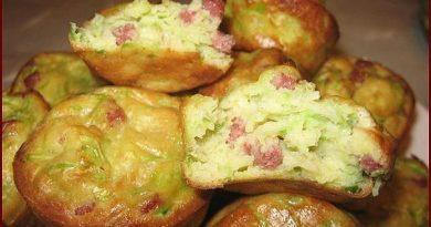 Кабачковые кексики с беконом и зеленью!
