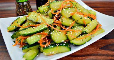 Огурцы по-корейски (10 минут - и готовы)