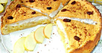 Очень вкусный,нежный яблочный пирог с безе