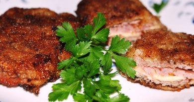 Свинина, жареная с сыром