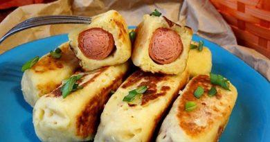 Сосиски в картошке