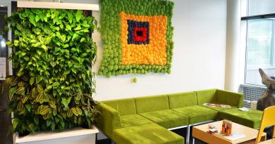 Как озеленить интерьер без растений
