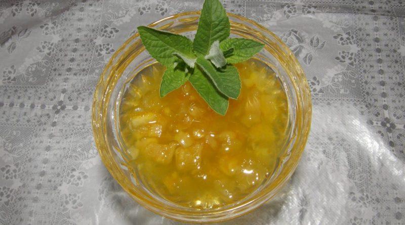 Желе из лимона с имбирем