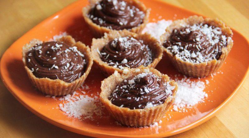 Кокосовые тарталетки с шоколадом