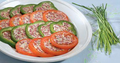 Закуска из перцев и томатов