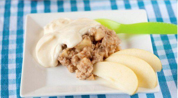 Запеченная в духовке овсянка с яблоками и корицей