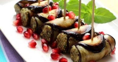 Баклажаны по-грузински с соусом сациви