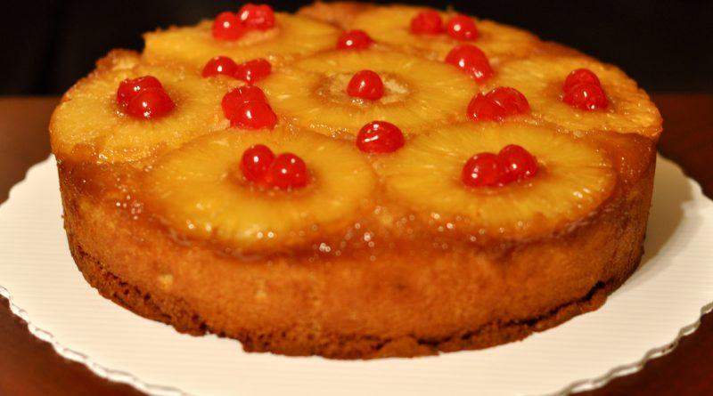Творожный пирог с ананасом