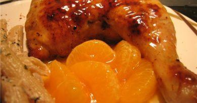 Курица с мандаринами.