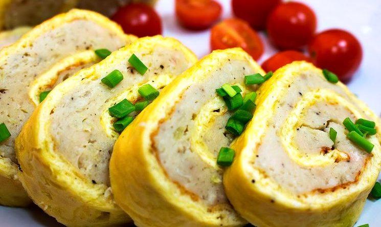 Сырно-мясной рулет