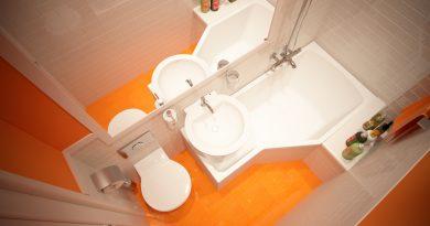 Как оформить маленькую ванную комнату?