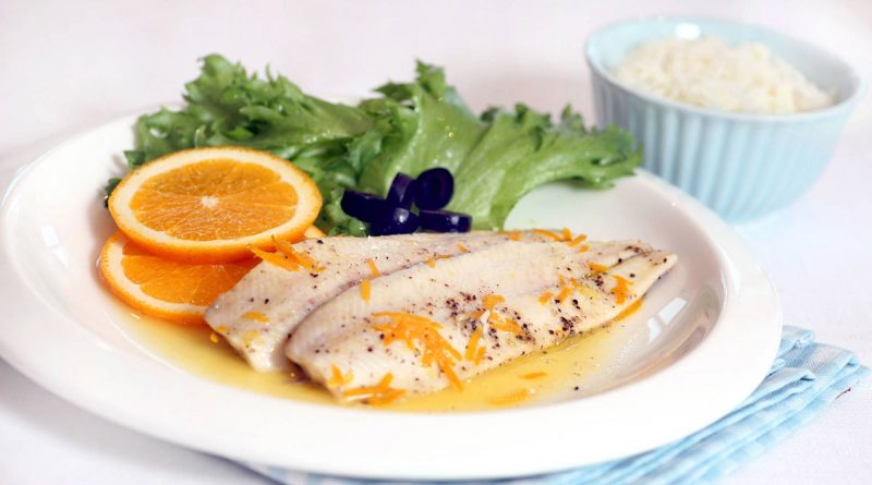 Рыба запеченная с апельсином