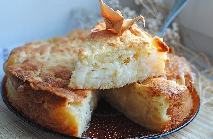 Яблочный пирог с суфле