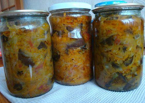 Салат на зиму из капусты и грибов