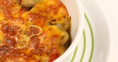 Запеченные грибы с сыром в духовке