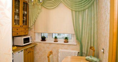 Как отстирать от жирных пятен кухонные шторы