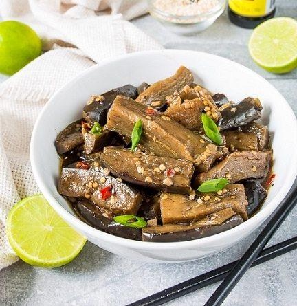 Быстрые баклажаны по-китайски