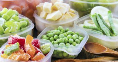 Замораживание овощей и фруктов