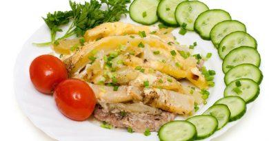 Мясо по-французски в мультиварке с картофельным гарниром