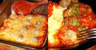 Тефтельки из говяжьего фарша с сыром в томатном соусе