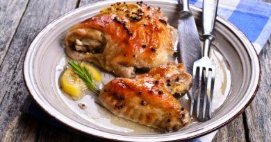 Курица с лимоном и горчицей