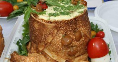 "Салат с грибами ""Пенек"""