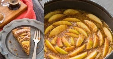 Яблочно-кофейный пирог