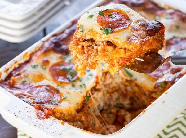 Лазанья с сыровяленой колбаской