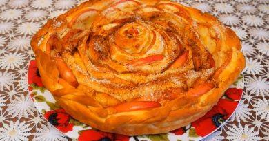 Рецепт домашнего дрожжевого яблочного пирога