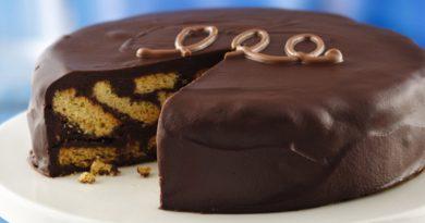 """Ленивый """"Мраморный"""" торт"""