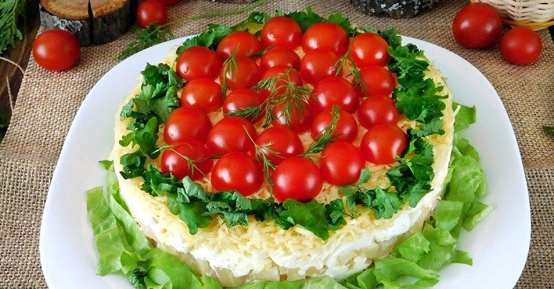 Рецепт салата с курицей и грецкими орехами