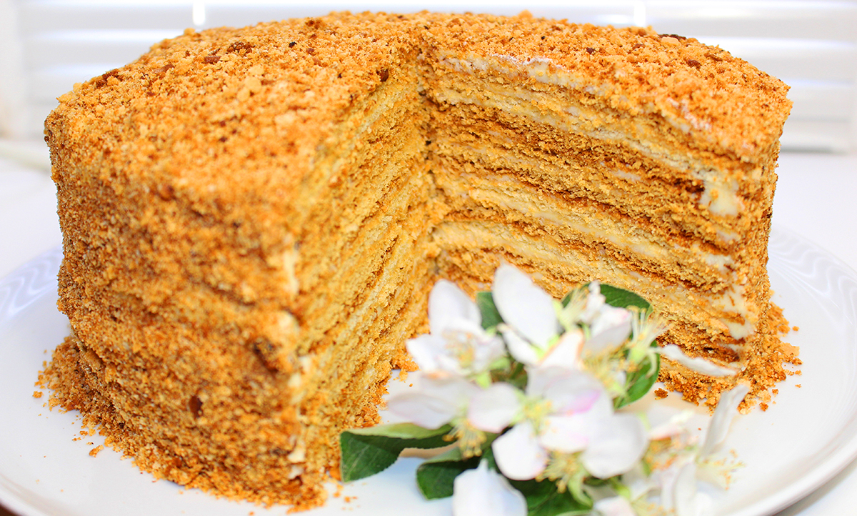 """Самый простой рецепт торта """"Медовик"""""""